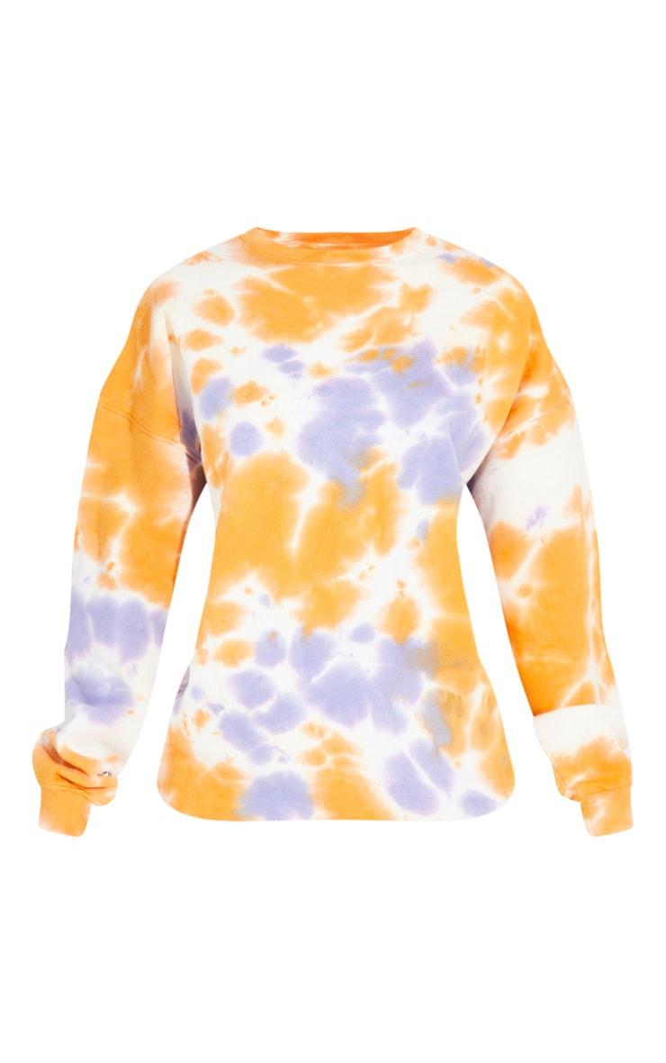 Tall Orange Oversized Tie Dye Sweater 5