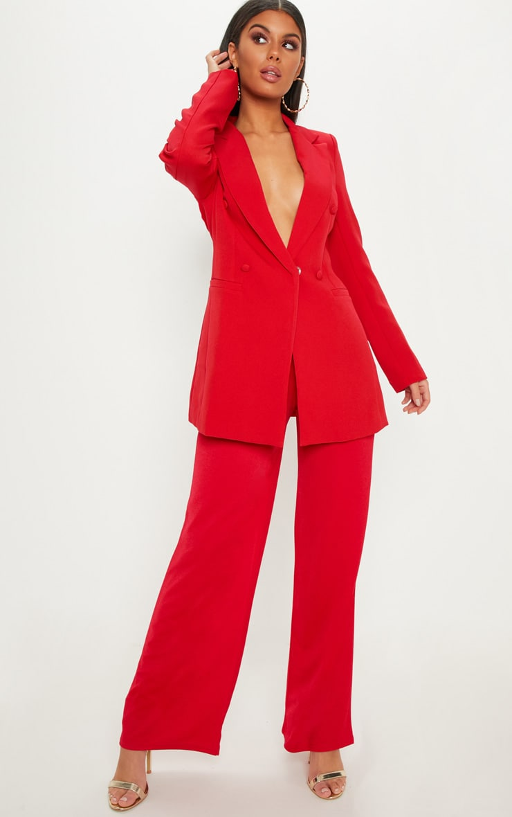 Red Double Breasted Blazer  4