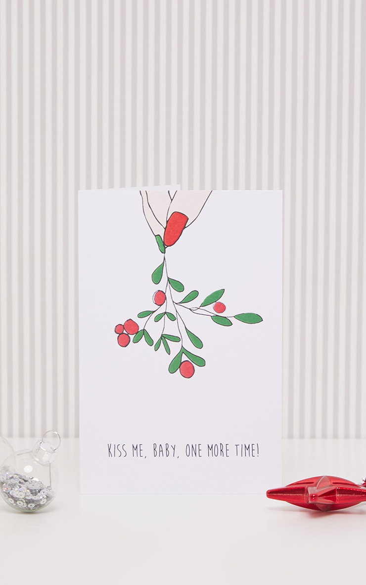 NOCTURNAL PAPER Kiss Me Baby Xmas Card 1