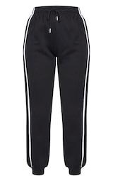 Black Double Side Stripe Joggers 5