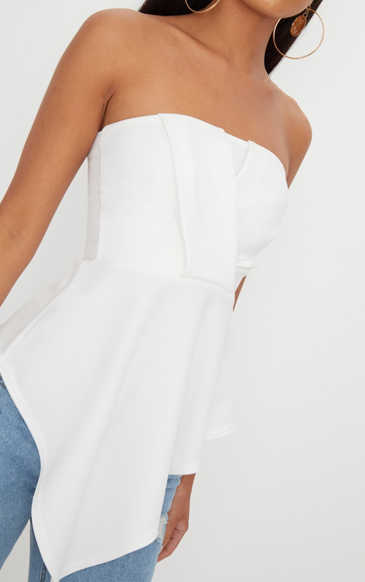 White Origami Bandeau Top  5