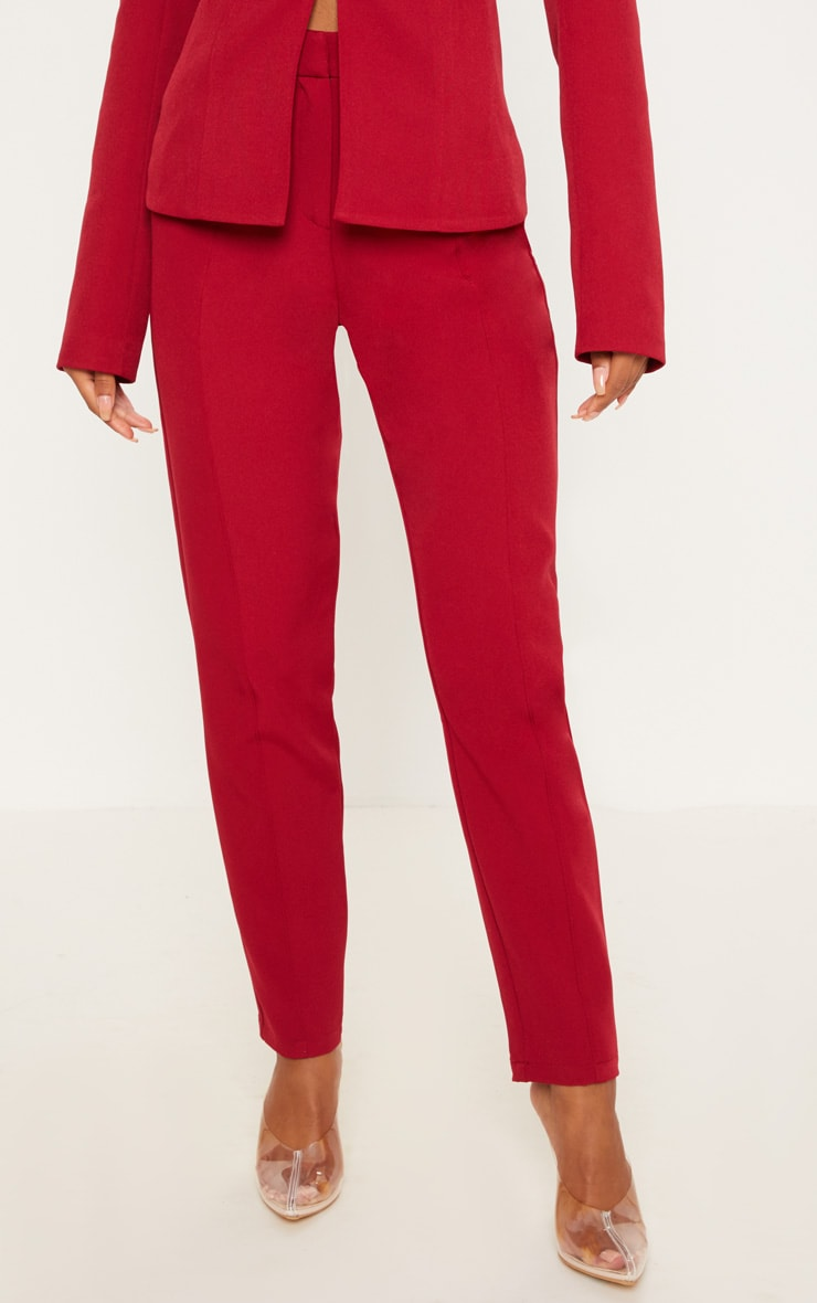 Pantalon de costume rouge 2