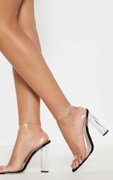Black Clear Strap Heels 2