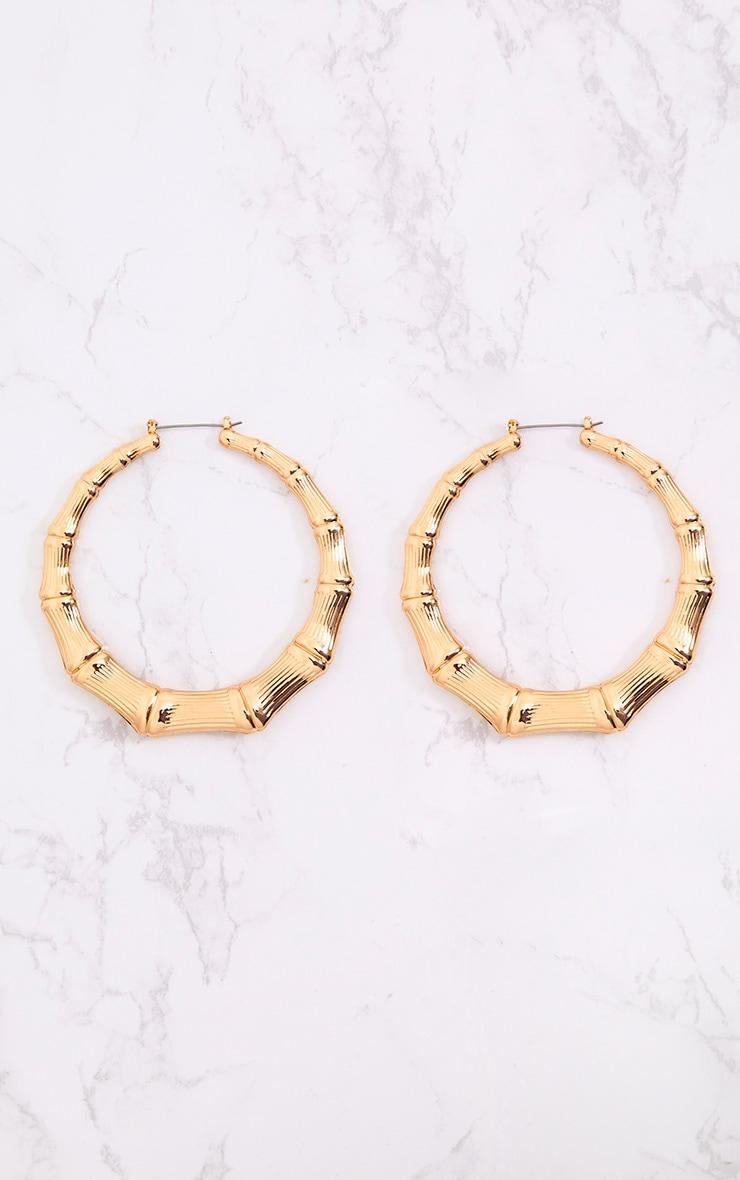 Gold Large Creole Hoop Earrings 2