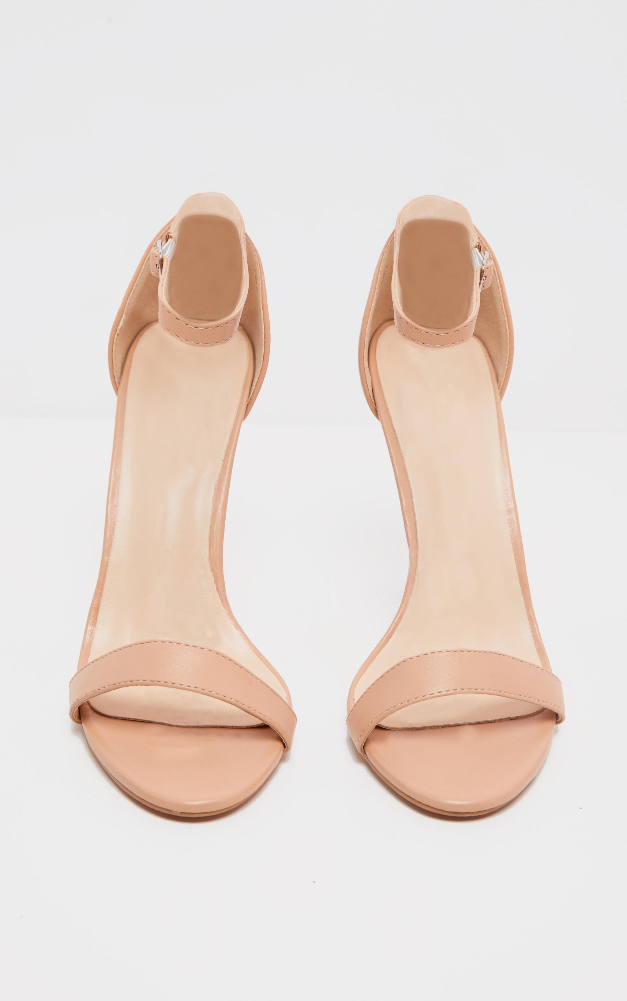 Dark Nude Clover Strap Heeled Sandal 4