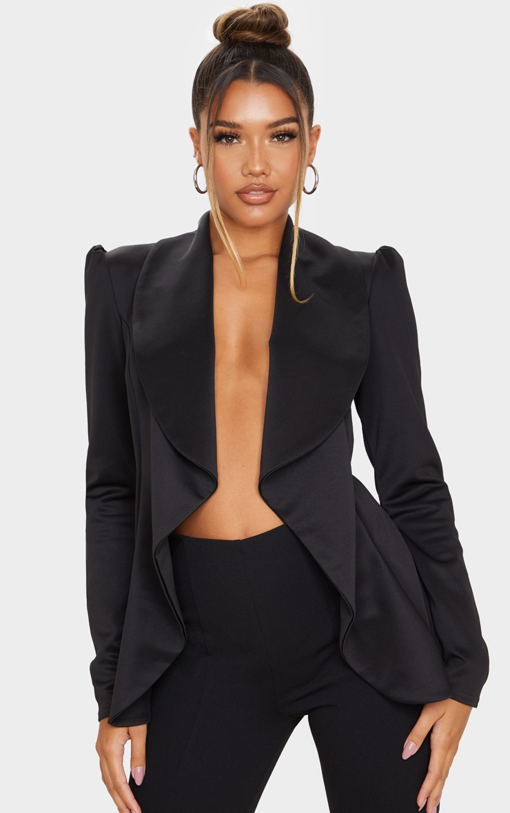 Black Waterfall Blazer 1