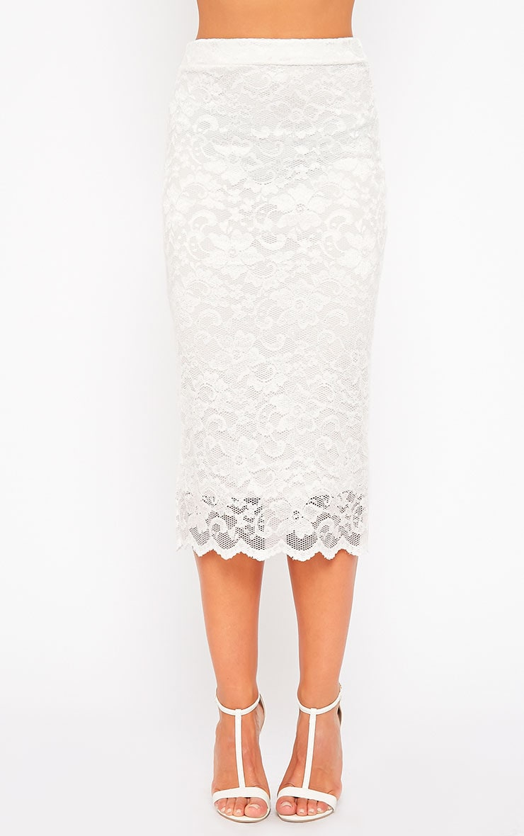 Diona Cream Lace Skirt 2
