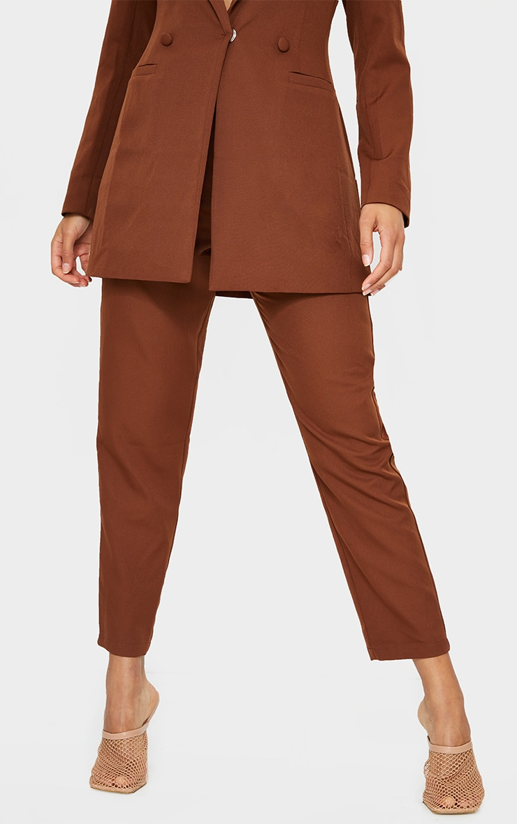 Chocolate Brown Cropped Pants 3