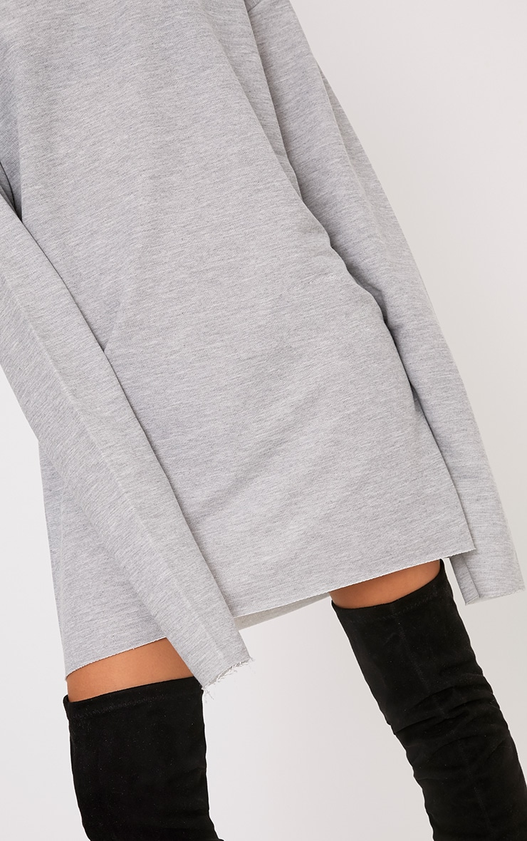 Breanna Grey Extreme Long Sleeved Sweater Dress 5