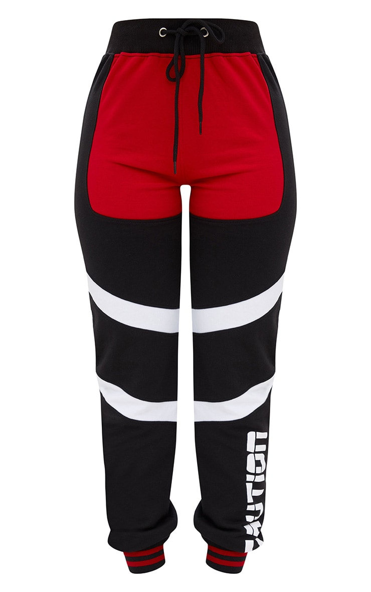 Shape Black Caution Contrast Joggers 3