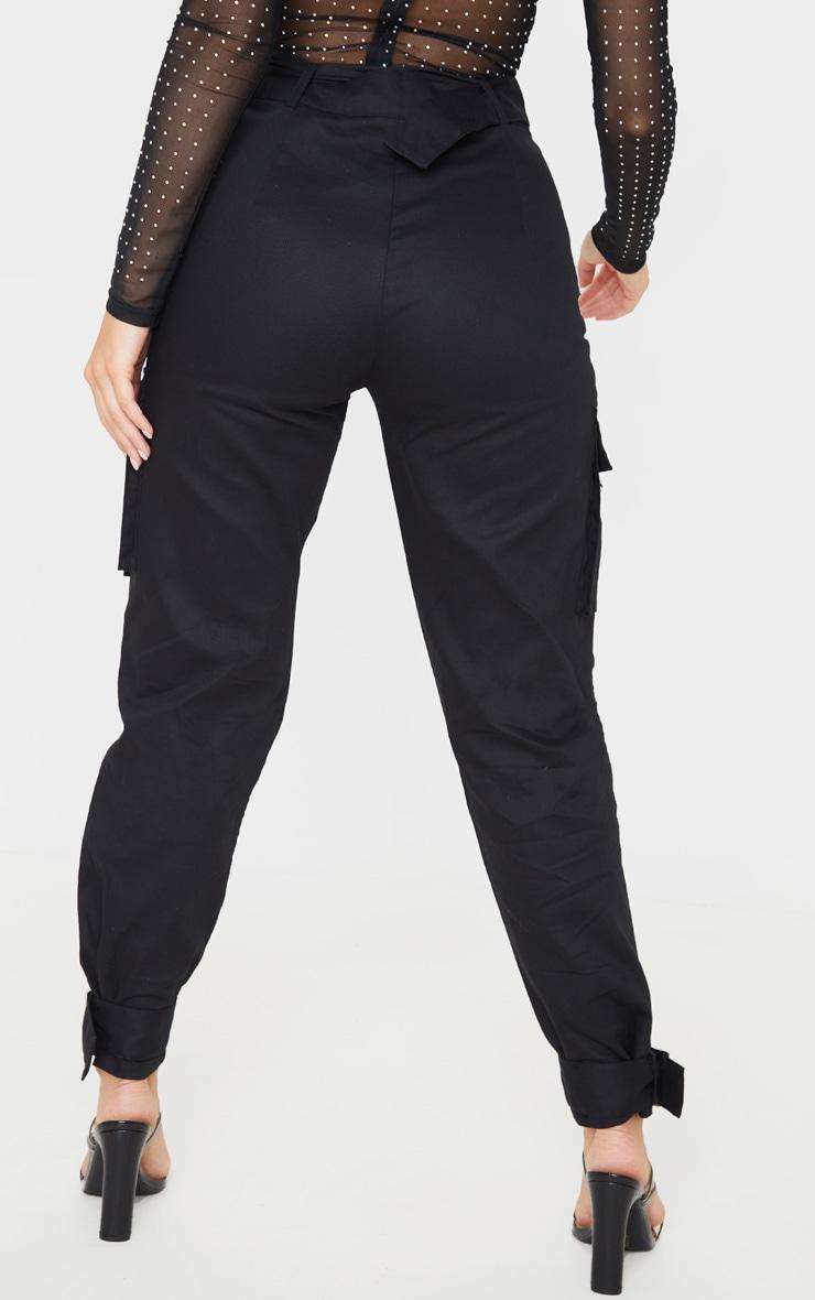 Black Cargo Trousers 5