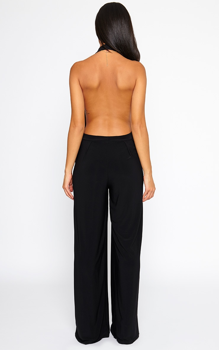 Vicki Black Halter Neck Jumpsuit 3