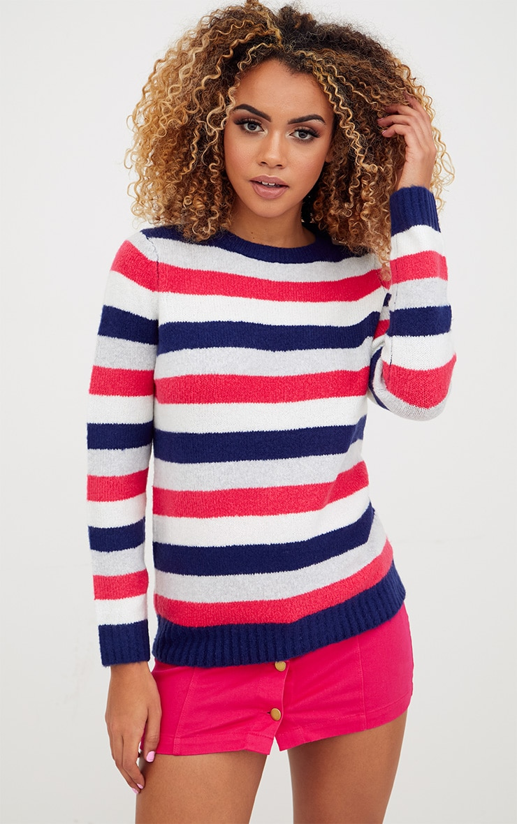 Blue Stripe Jumper 1