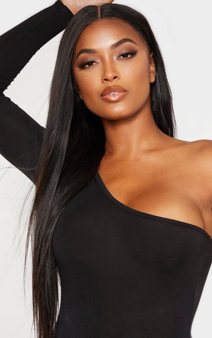 Shape Black Jersey One Shoulder Bodysuit 6