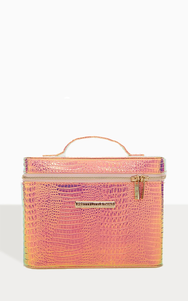 PRETTYLITTLETHING Holographic Vanity Case 1