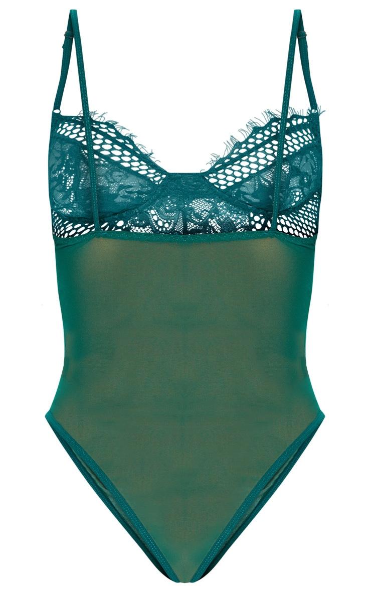 Emerald Eyelash Lace & Fishnet Body 4