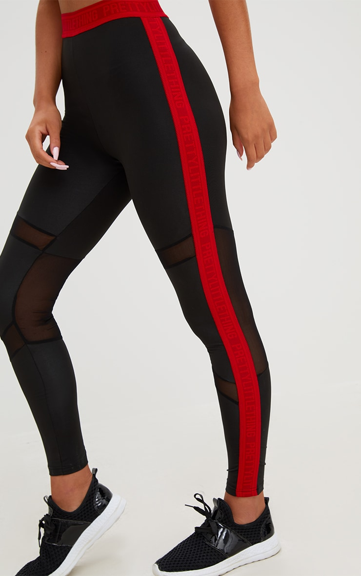 PRETTYLITTLETHING Red Band Leggings 6