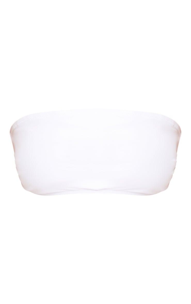 Mix & Match White Bandeau Bikini Top  3
