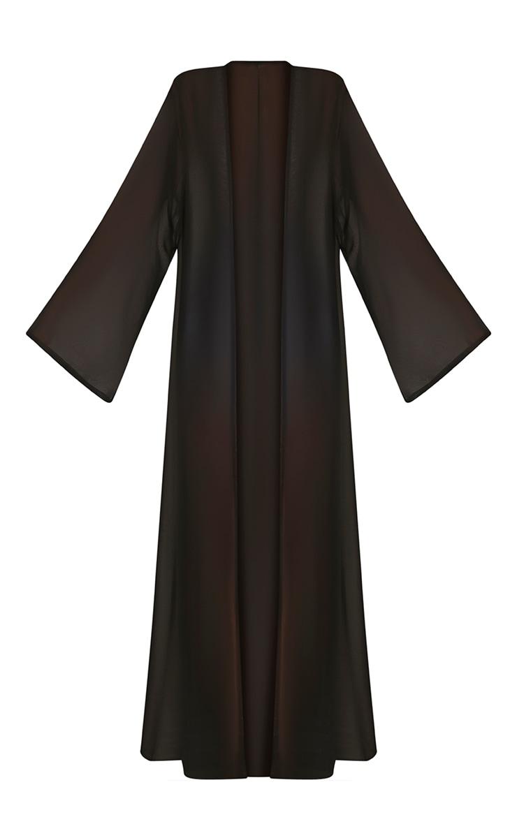 Xalia Black Sheer Kimono 3