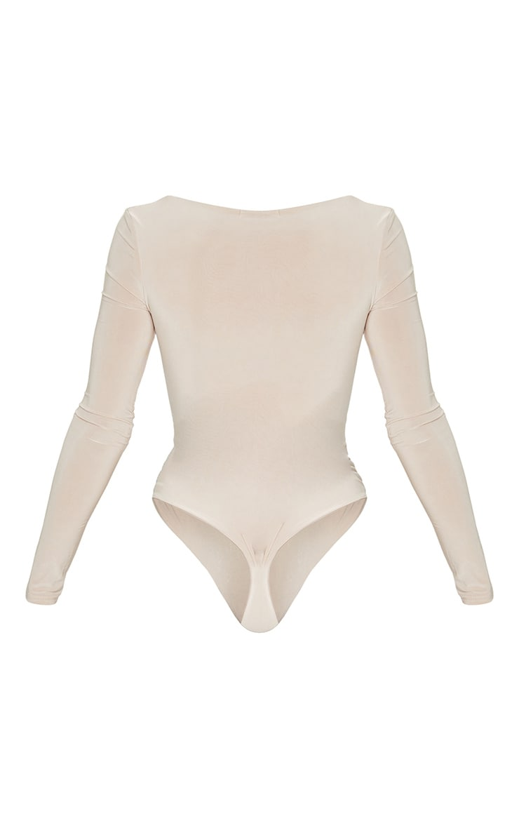 Stone Second Skin Square Neck Thong Bodysuit  6