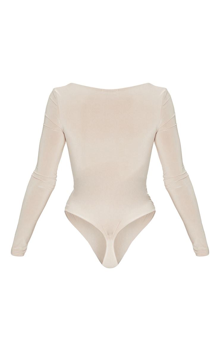Stone Second Skin Square Neck Thong Bodysuit 6