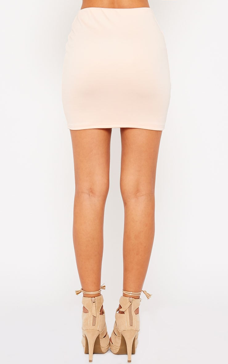 Milah Nude Scuba Mini Skirt 4