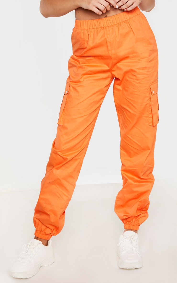 Tall - Pantalon cargo orange à détail poches 2