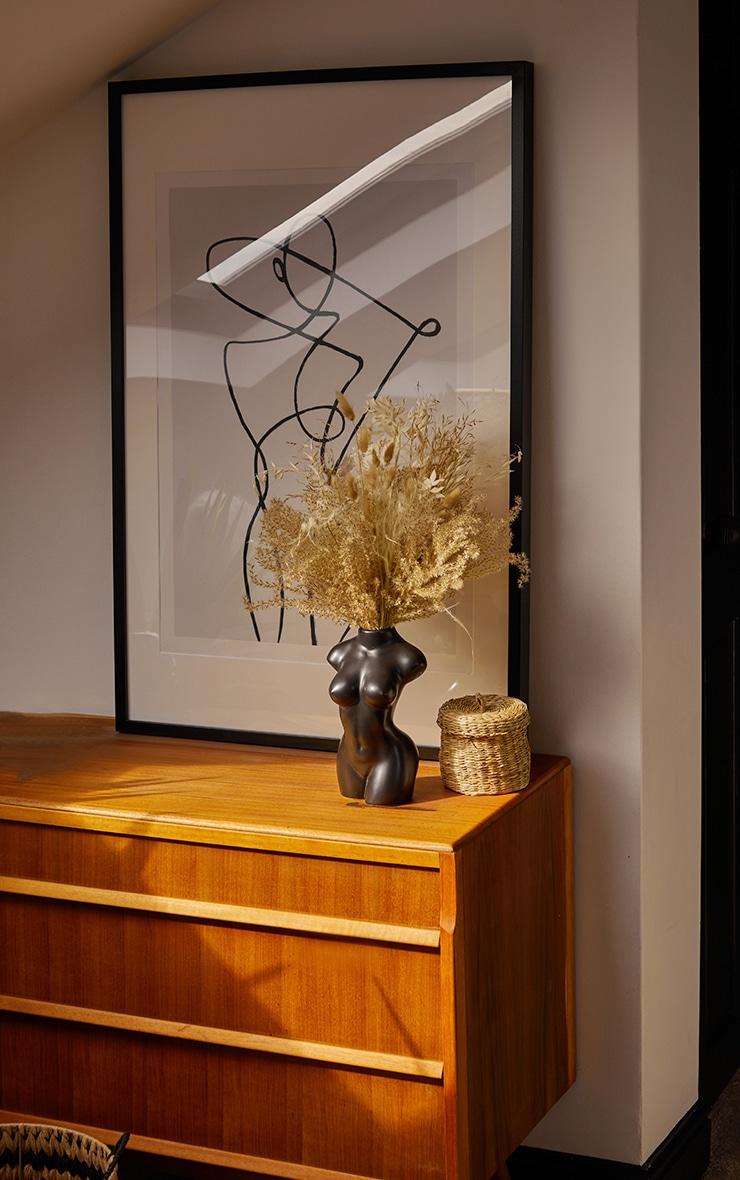 Grand vase corps féminin noir mat 2