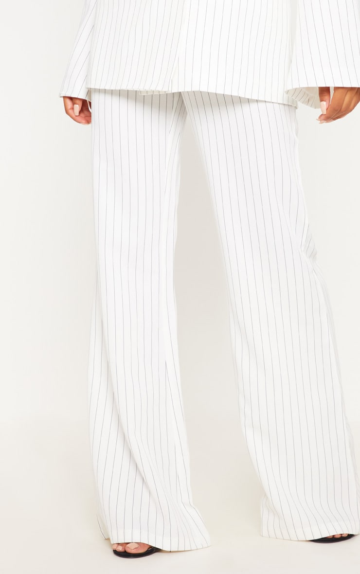 Cream Pinstripe Flared Trouser 2