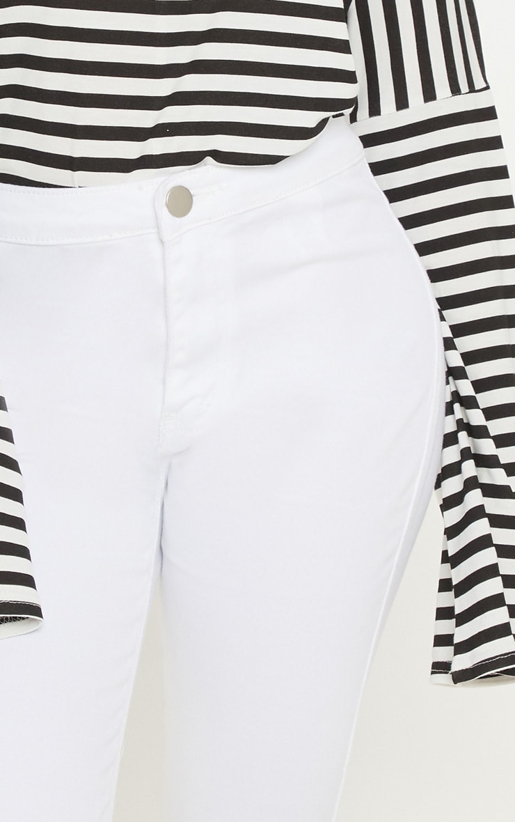 Petite White High Rise Skinny Jeans  5