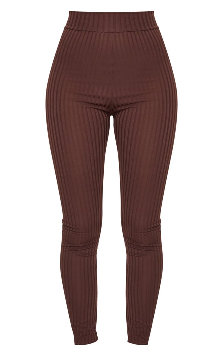 Chocolate Ribbed Legging 5