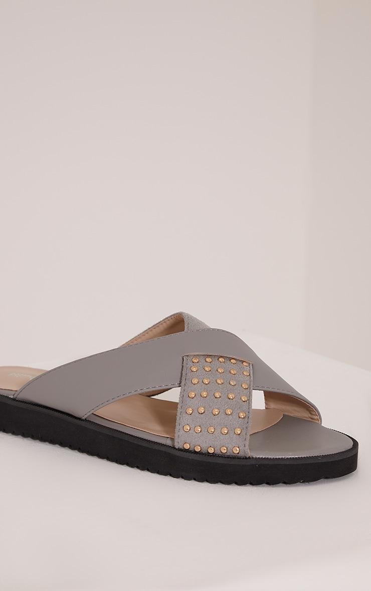 Aalia Grey Stud Detail Sliders 5