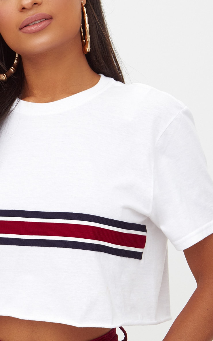 Sporty Tape Crop T Shirt 5