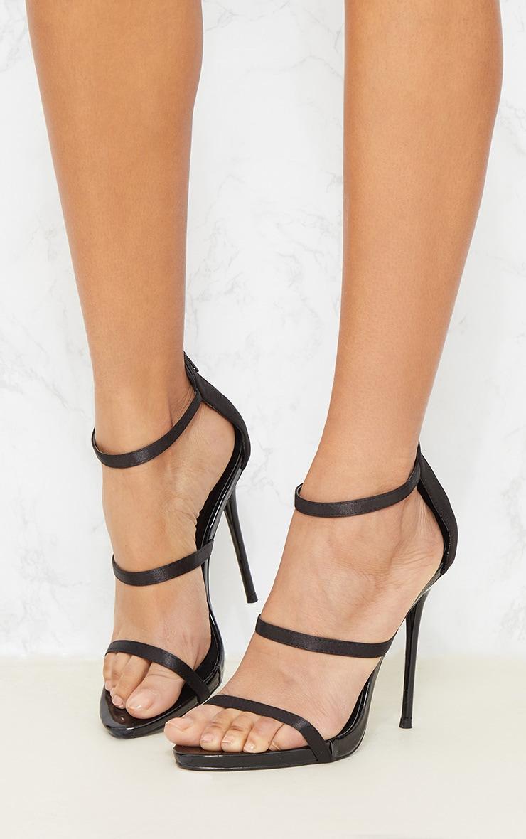 Black Triple Strap Sandal 2