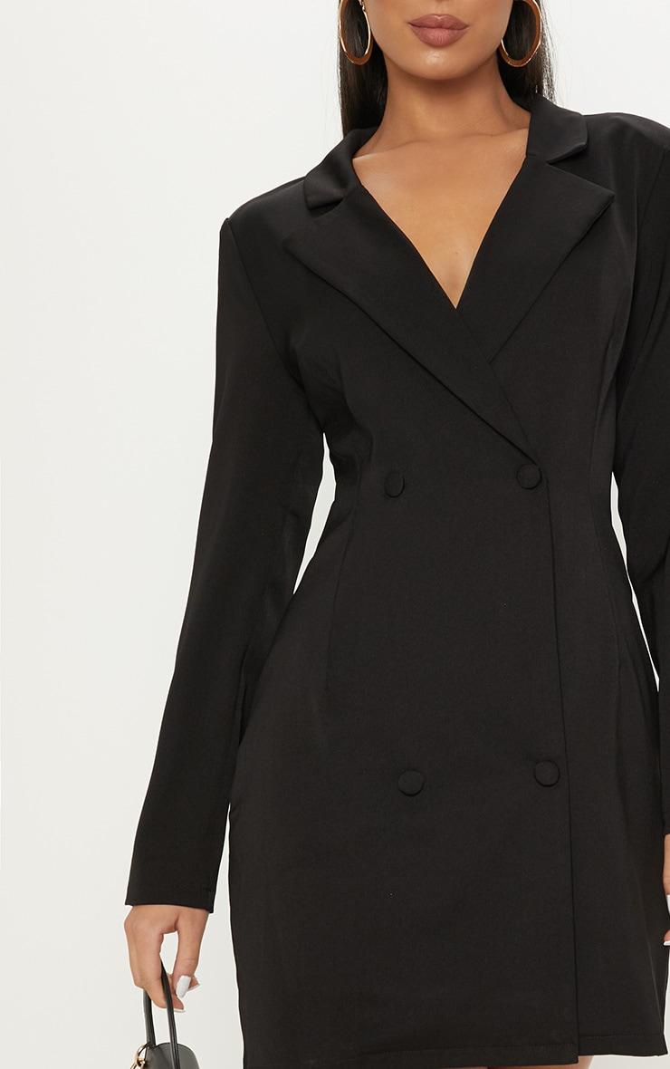 Black Long Sleeve Blazer Dress 5