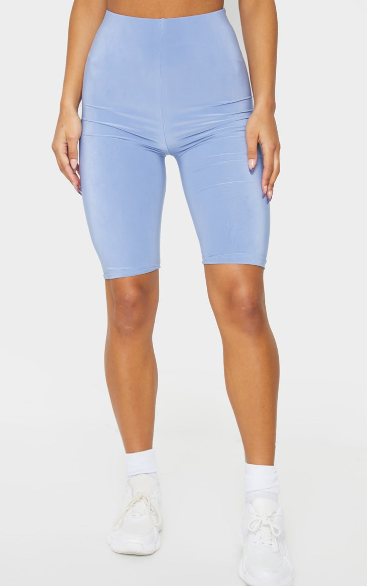 Pale Blue Slinky Longline Bike Short 2