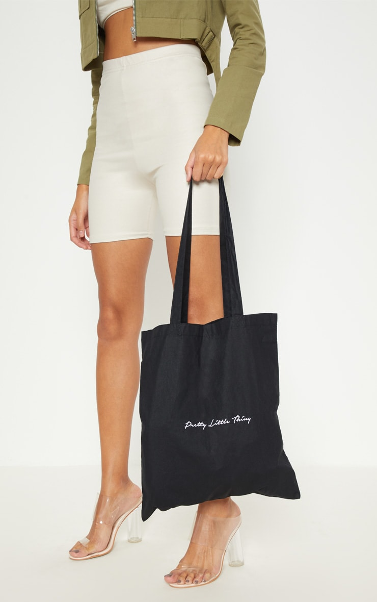 PRETTYLITTLETHING Black Tote Bag 2