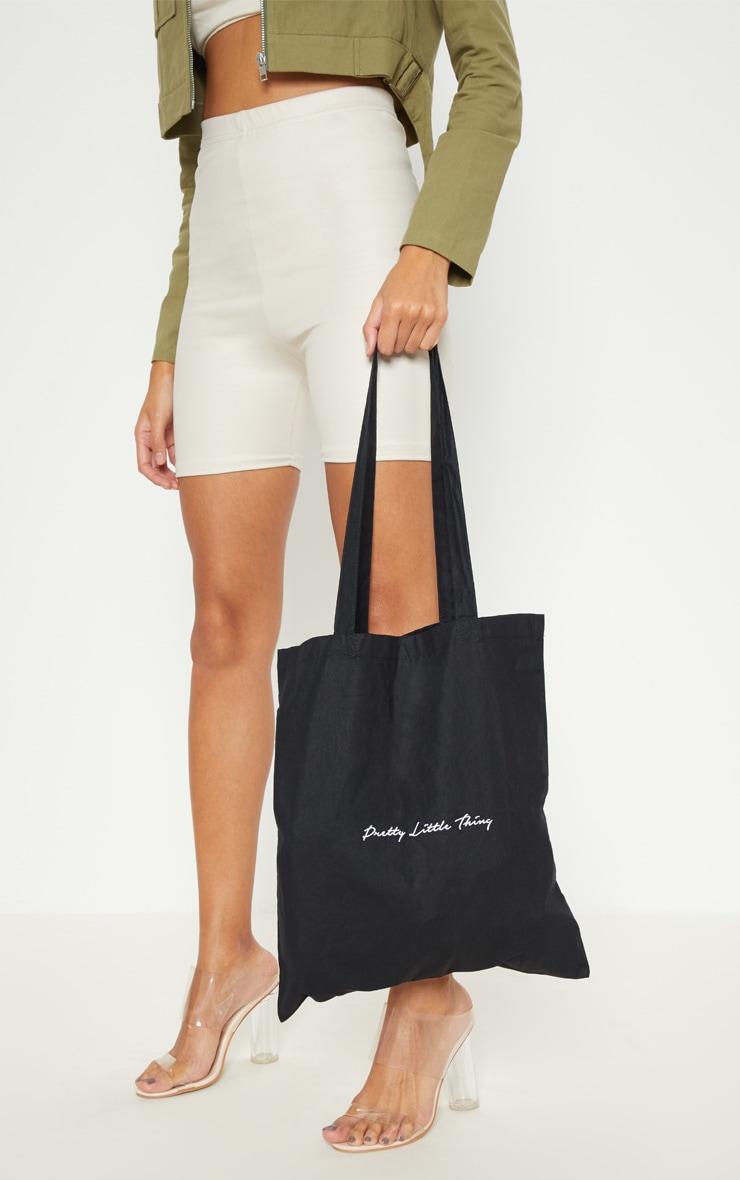 PRETTYLITTLETHING Black Tote Bag 2