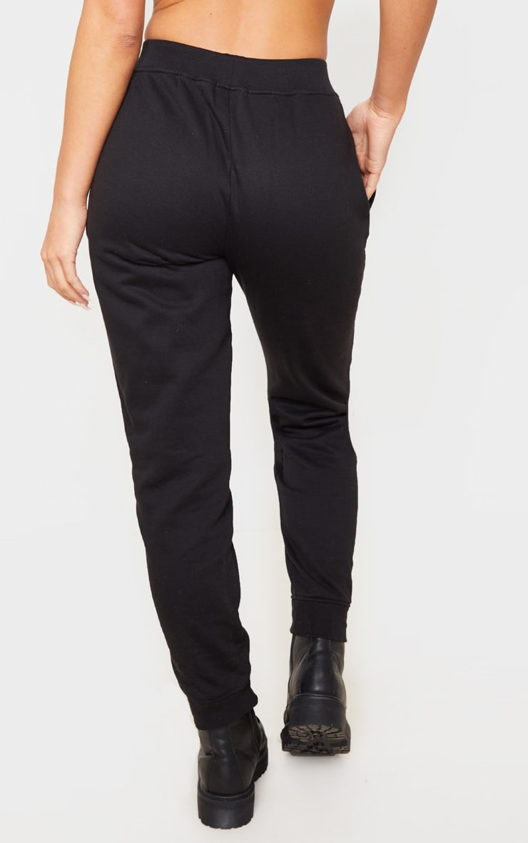 PRETTYLITTLETHING Black Tape Detail Jogger 4