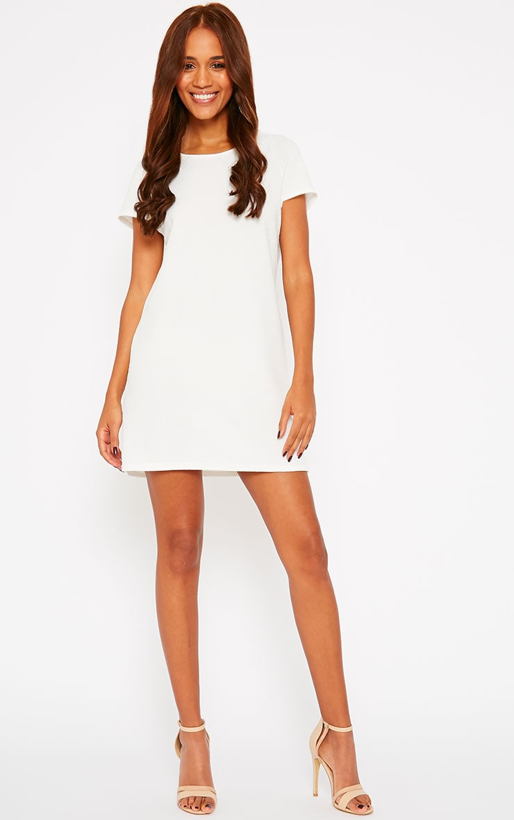 Camila Cream Loose Fit Shift Dress 3