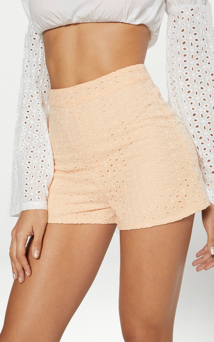 Peach Broderie Anglaise Shorts 6