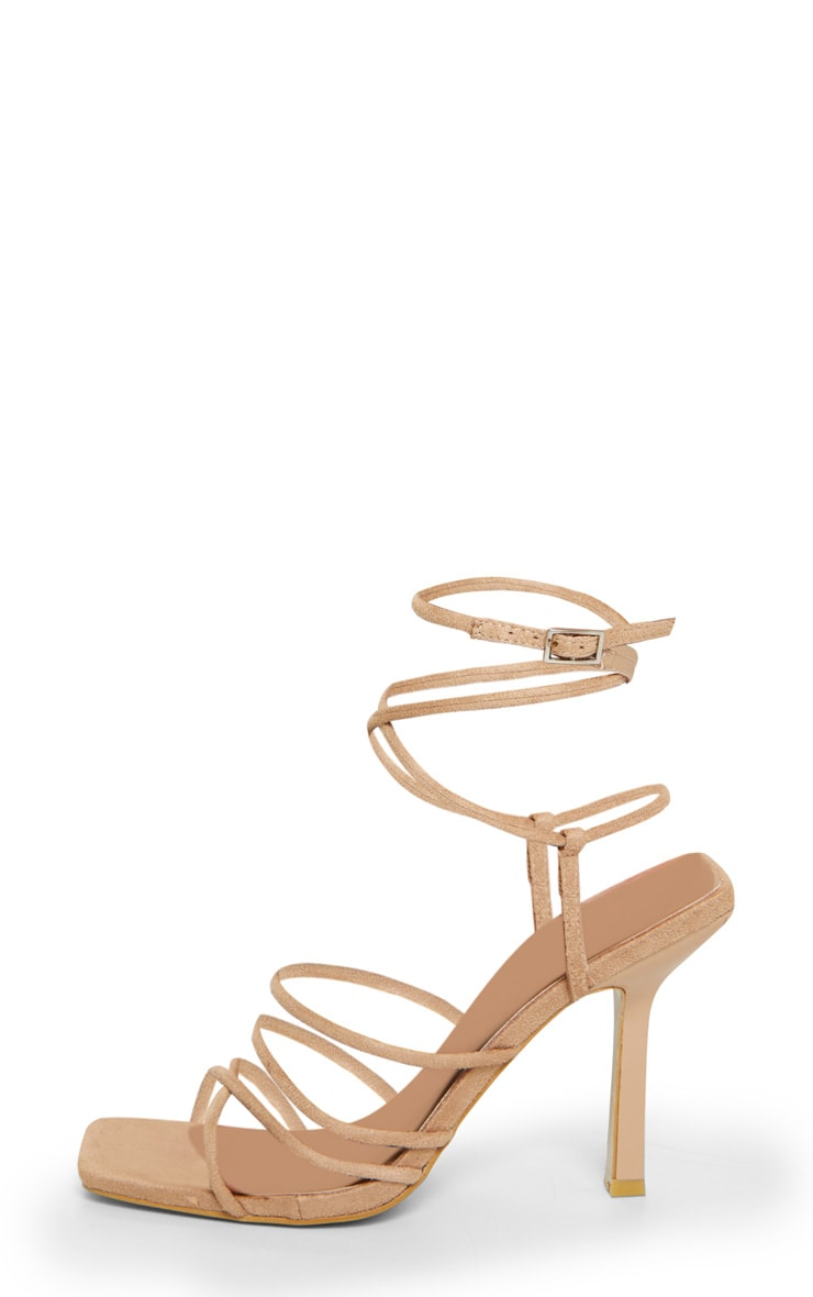 Sand Squared Strappy Heels 4