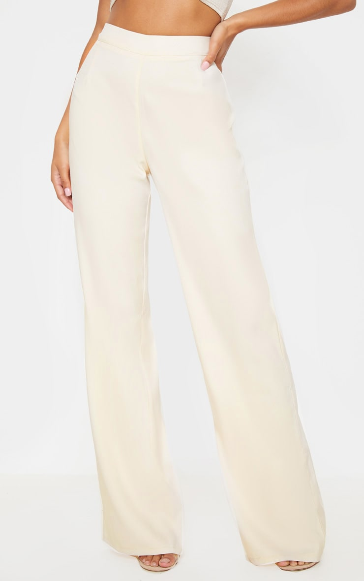 Stone High Waisted Wide Leg Suit Pants 2