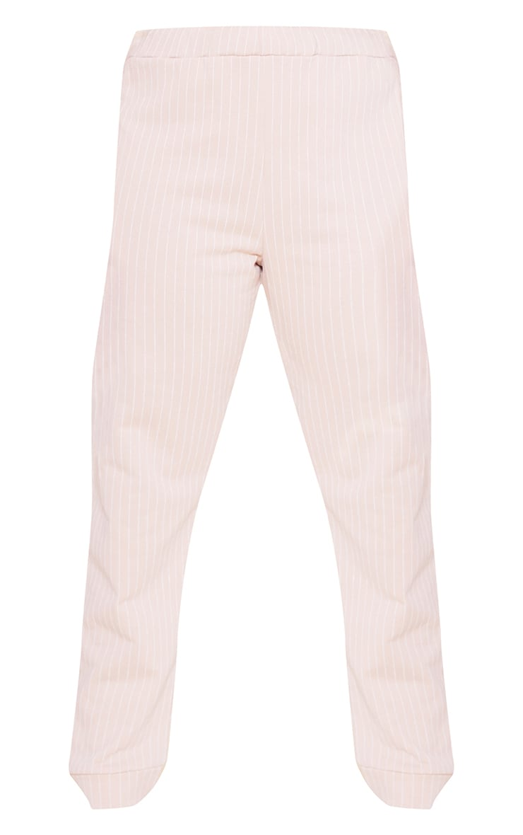 RECYCLED Plus Deep Nude Pinstripe Jogger 3