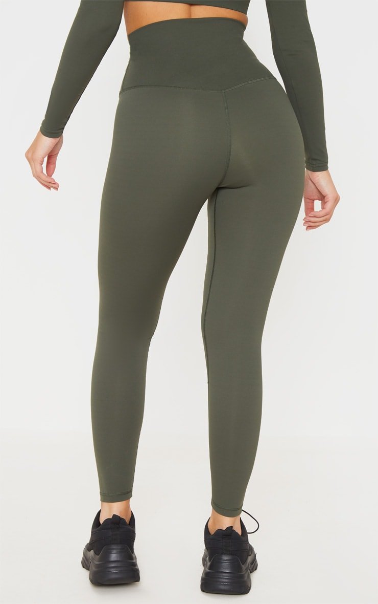 Khaki Sculpt Luxe Super High Waist Gym Leggings 3