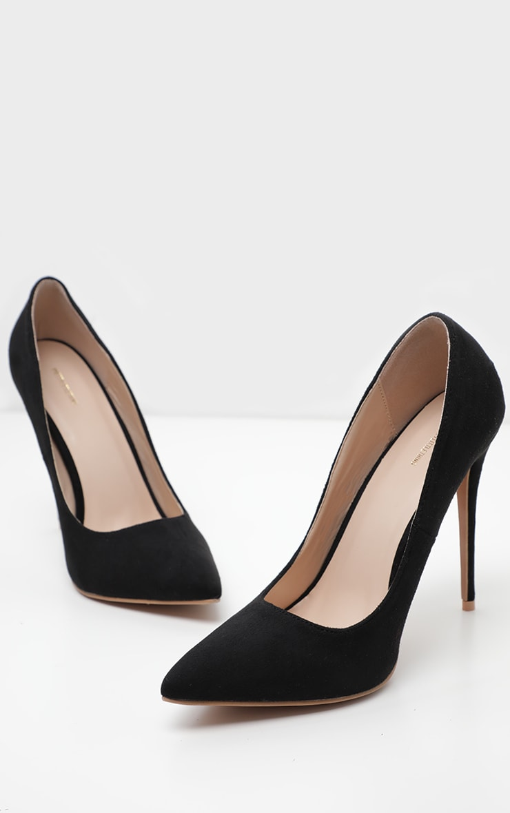 Black Wide Fit Court Shoes 3