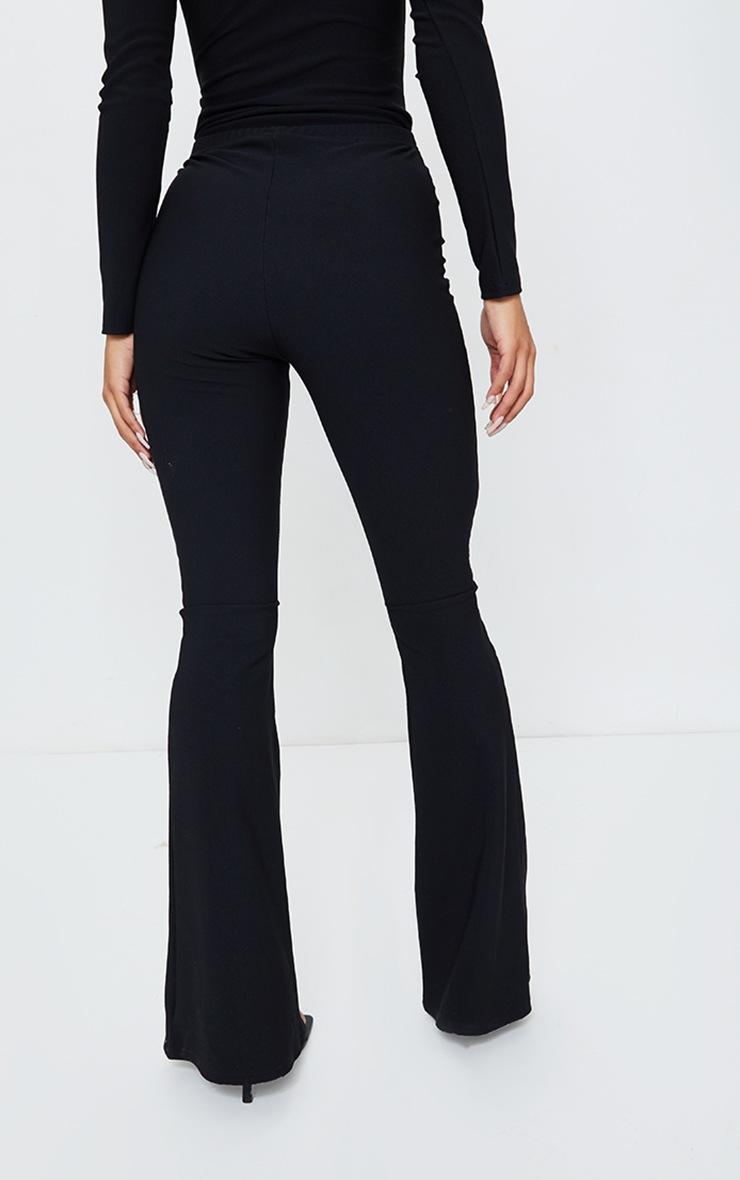 Black Bandage High Waist Flared Trousers 3