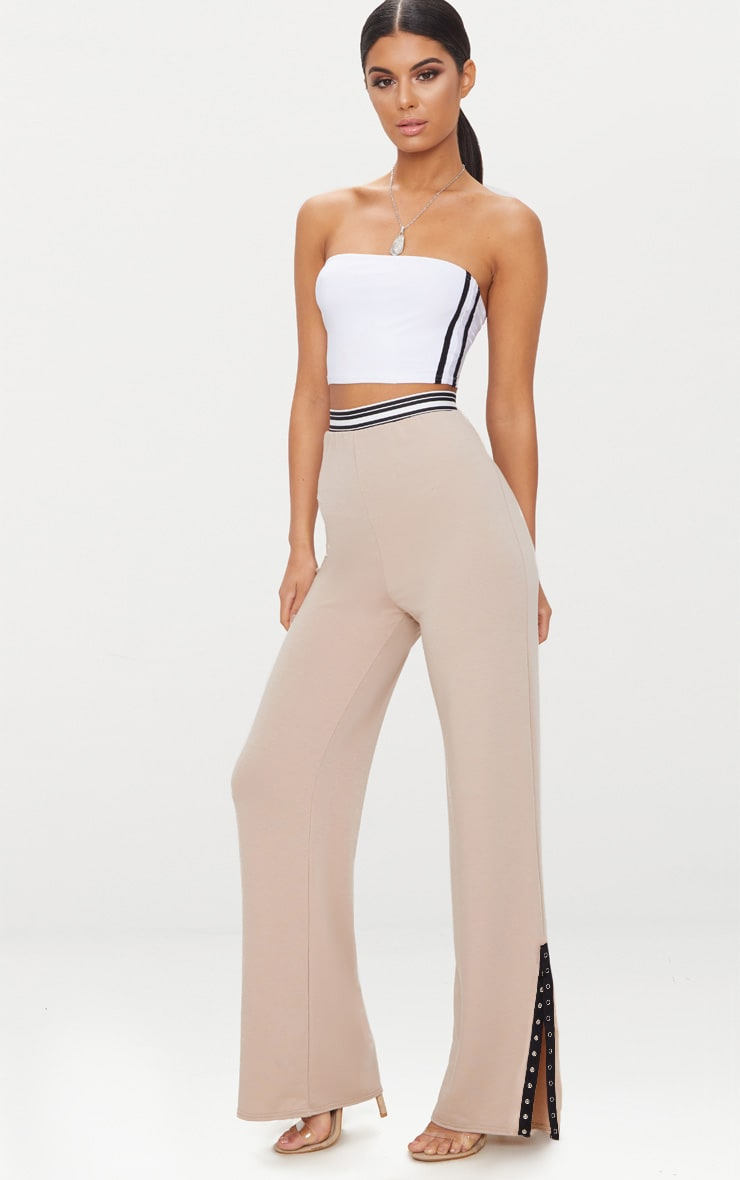 Stone Sports Trim Wide Leg Trouser  1