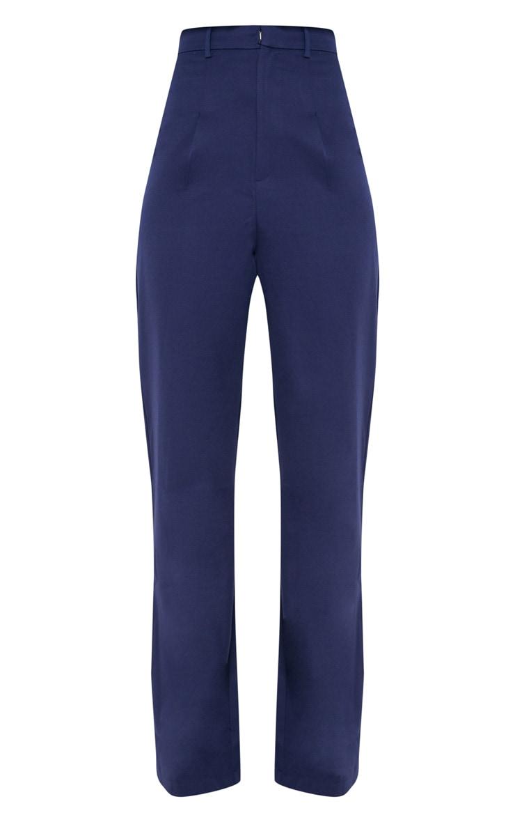 Tall Navy High Waist Wide Leg Pants 3