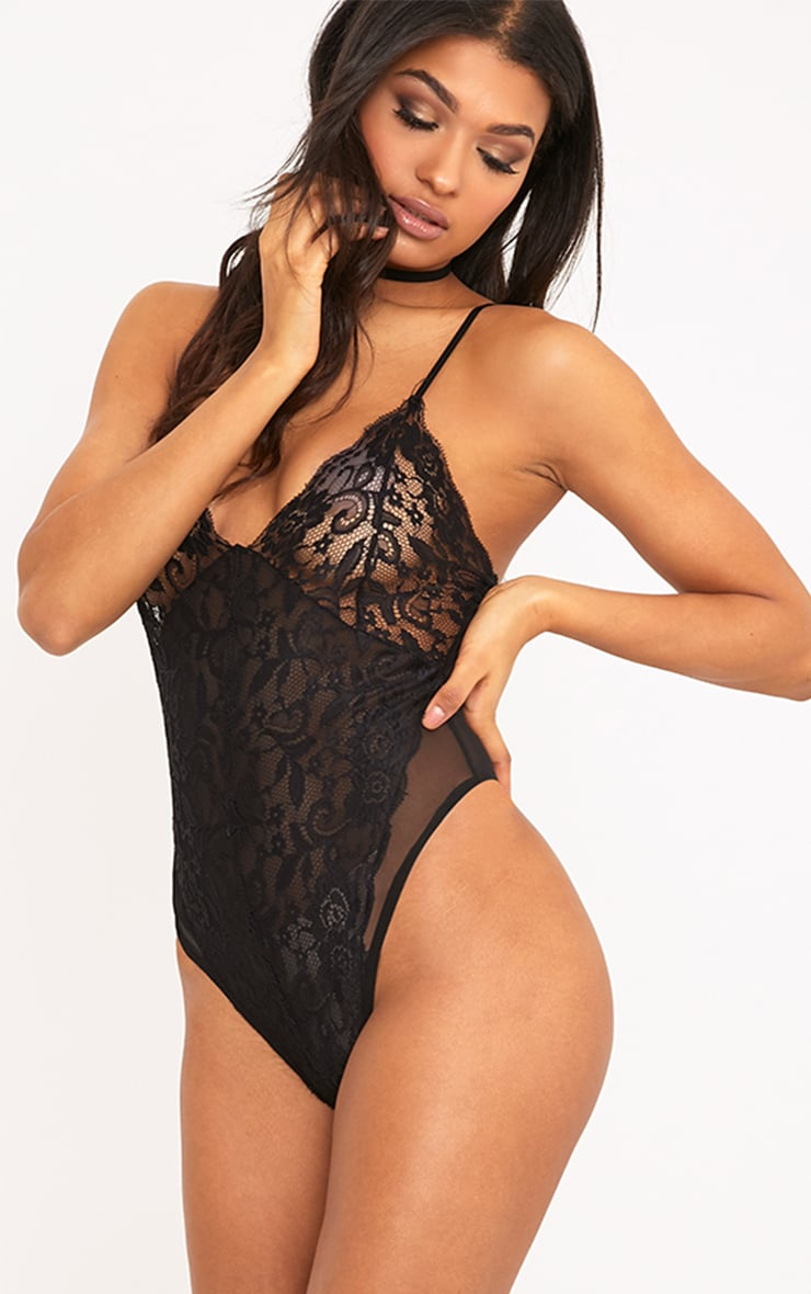Tanisha Black All Over Lace Body 1